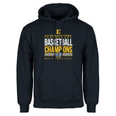 Navy Fleece Hoodie-2017 Southern Conference Tournament Mens Basketball Champions Stacked