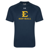Under Armour Navy Tech Tee-E Softball