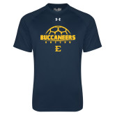 Under Armour Navy Tech Tee-Soccer Outline Design