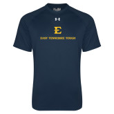 Under Armour Navy Tech Tee-East Tennessee Tough Stacked