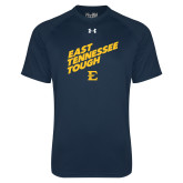 Under Armour Navy Tech Tee-East Tennessee Tough Slant