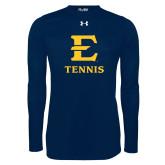 Under Armour Navy Long Sleeve Tech Tee-E Tennis