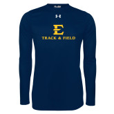 Under Armour Navy Long Sleeve Tech Tee-E Track and Field