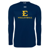 Under Armour Navy Long Sleeve Tech Tee-E Volleyball