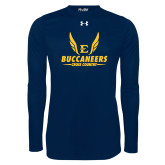 Under Armour Navy Long Sleeve Tech Tee-Cross Country Wings