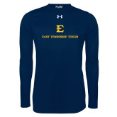 Under Armour Navy Long Sleeve Tech Tee-East Tennessee Tough Stacked