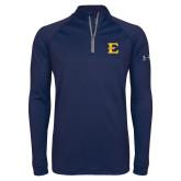 Under Armour Navy Tech 1/4 Zip Performance Shirt-E - Offical Logo