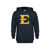 Youth Navy Fleece Hoodie-E - Offical Logo