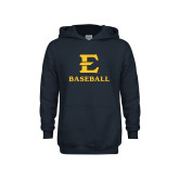 Youth Navy Fleece Hoodie-E Baseball