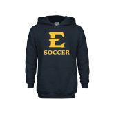 Youth Navy Fleece Hoodie-E Soccer