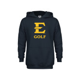 Youth Navy Fleece Hoodie-E Golf