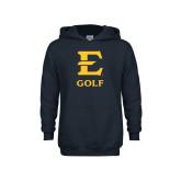 Youth Navy Fleece Hood-E Golf