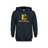 Youth Navy Fleece Hood-E Softball