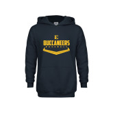Youth Navy Fleece Hoodie-Baseball Plate Design
