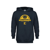 Youth Navy Fleece Hoodie-Soccer Design