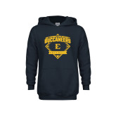 Youth Navy Fleece Hoodie-Softball Field