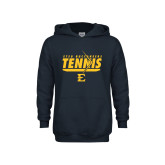 Youth Navy Fleece Hoodie-Tennis Arrow