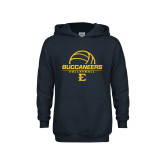 Youth Navy Fleece Hoodie-Volleyball on Top