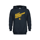 Youth Navy Fleece Hoodie-East Tennessee Tough Slant