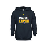 Youth Navy Fleece Hoodie-2017 Southern Conference Tournament Mens Basketball Champions Stacked