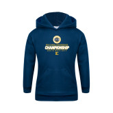 Youth Navy Fleece Hoodie-Southern Conference Championship - Mens Golf 2017