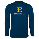 Performance Navy Longsleeve Shirt-E Football
