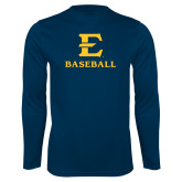 Performance Navy Longsleeve Shirt-E Baseball