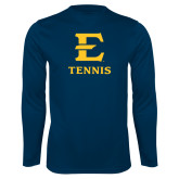 Performance Navy Longsleeve Shirt-E Tennis