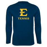 Syntrel Performance Navy Longsleeve Shirt-E Tennis