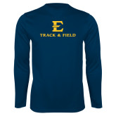 Performance Navy Longsleeve Shirt-E Track and Field