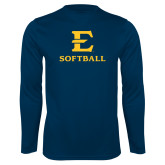 Performance Navy Longsleeve Shirt-E Softball