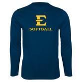 Syntrel Performance Navy Longsleeve Shirt-E Softball