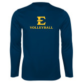 Performance Navy Longsleeve Shirt-E Volleyball