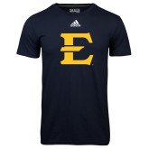 Adidas Climalite Navy Ultimate Performance Tee-E - Offical Logo