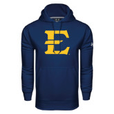 Under Armour Navy Performance Sweats Team Hoodie-E - Offical Logo