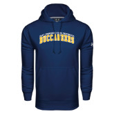Under Armour Navy Performance Sweats Team Hoodie-Arched East Tennessee University Buccaneers