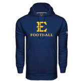 Under Armour Navy Performance Sweats Team Hoodie-E Football