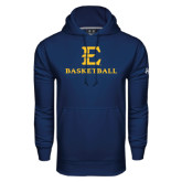 Under Armour Navy Performance Sweats Team Hoodie-E Basketball