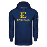 Under Armour Navy Performance Sweats Team Hoodie-E Baseball
