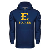 Under Armour Navy Performance Sweats Team Hoodie-E Soccer