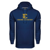 Under Armour Navy Performance Sweats Team Hood-E Cross Country