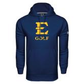 Under Armour Navy Performance Sweats Team Hoodie-E Golf