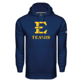 Under Armour Navy Performance Sweats Team Hoodie-E Tennis