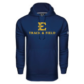Under Armour Navy Performance Sweats Team Hood-E Track and Field