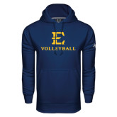 Under Armour Navy Performance Sweats Team Hoodie-E Volleyball