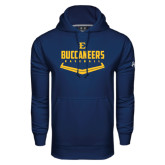 Under Armour Navy Performance Sweats Team Hoodie-Baseball Plate Design