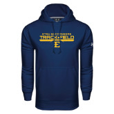 Under Armour Navy Performance Sweats Team Hoodie-Track and Field