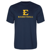 Performance Navy Tee-E Basketball
