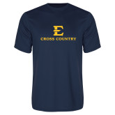 Performance Navy Tee-E Cross Country