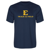 Performance Navy Tee-E Track and Field